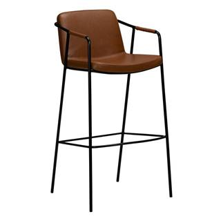 Hnedá barová stolička v imitácii kože DAN-FORM Denmark Boto