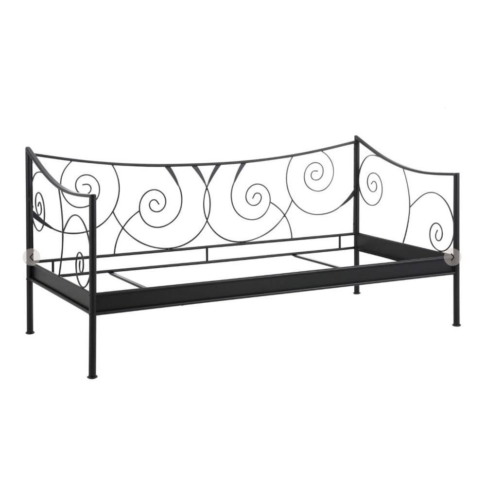 Čierna kovová posteľ Støraa...