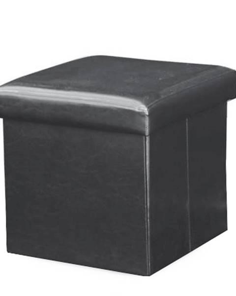 Čierna taburetka Tempo Kondela